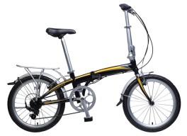 "Bici Pieghevole F20H- 7V 20"" Khs Nero"