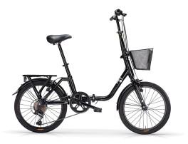 "Bici Pieghevole Unisex Kangaroo 20"" 6V Acciaio MBM Nera"