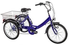 Triciclo Adulti tre ruote misura 20'' Blu