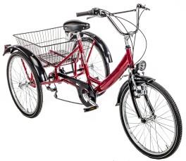 Triciclo Adulti tre ruote misura 24'' Rosso