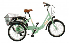 Tricycle Adults Unisex 24 '' 6S Aluminum Via Veneto Green