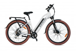 Mountain bike elettrica front suspended Anima Electric Bianco