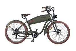 Bici elettrica chopper verde militare electri