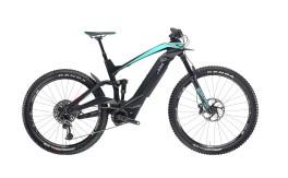 Bicicletta elettrica mtb full suspention  e-suv adventure bianchi