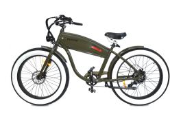 Fat bike elettrica verde militare electri