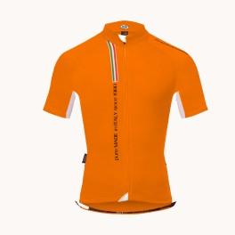 Maglietta bici mezza manica estate Pella Mortirolo Arancione