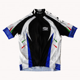 Maglia ciclismo mezza manica Racing Pella Blu