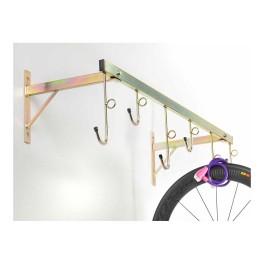Portaciclo a parete 6 posti zincato Andrys