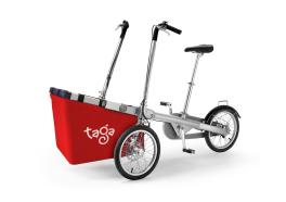 Taga Bike maxi cesto porta spesa rosso