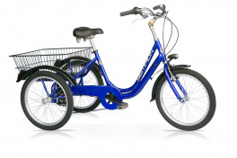 Bicicletta tre ruote adulto speedcross blu