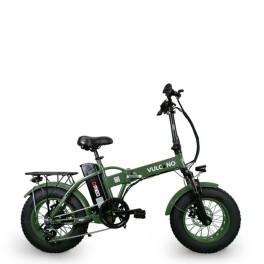 Fat bike elettrica pieghevole Vulcano nero