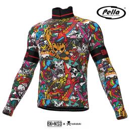 Tokidoki Tiger men's long sleeve cycling jersey - Pella
