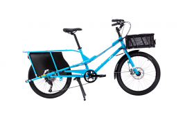 Bicicletta trasporto carico Kombi Yuba Blu