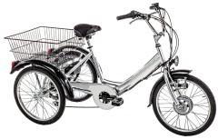 Triciclo elettrico adulti tre ruote elettrico Argento