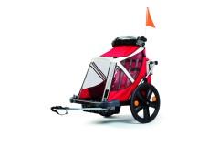 Carrellino rimorchio bicicletta bambini B-travel Bellelli rosso