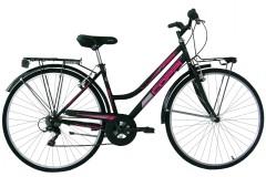 Bicicletta donna Trekking Beverly Coppi Nero/Fuxia