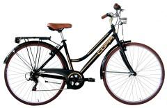 City Bike Donna Retrò Nero Coppi
