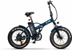 Fat bike elettrica pieghevole e-road icone blu artic