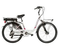 Electric Bike - Aluminium -  E-Ven White/Red 7S