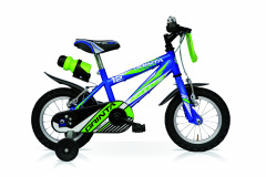 """Grinta 1S 14"""" Boys' Bike - Steel - Speedcross Black/Blue"""