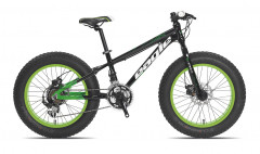 Fat Bike Ragazzo 20'' 6V Alluminio Tecnobike Nero