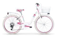 Bici City ragazza Fleur Mbm white