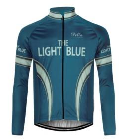 Giubbino ciclismo invernale The light blue