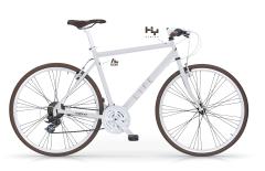 White Gravel Life Hybrid Bike