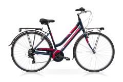 Bicicletta donna Town Speedcross blu/magenta