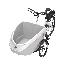 Cargobike Elettrico Mono Triobike Bianco con capote