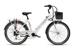 Bicicletta elettrica apedalata assistita Venezia Armony bianco