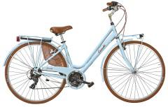 Vintage Woman Bicycle Blue