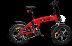 Fat bike elettrica biammortizzata X7 Sport Icone rosso